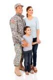 美国军事家庭 免版税图库摄影