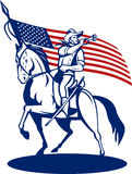 美国军号骑兵标记 库存照片