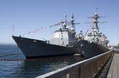 美国军舰 免版税库存照片