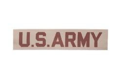 美国军队军队沙漠伪装一致的姓名徽章 图库摄影