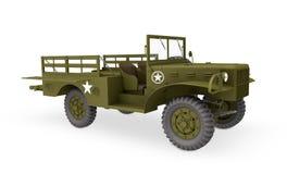 美国军队卡车3d 库存图片
