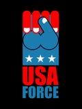 美国军队手 美国爱国者的美国拳头标志 团结的Sta 免版税库存图片