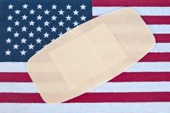 美国受伤了 库存图片
