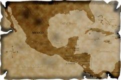 美国古色古香的中央映射 免版税库存照片