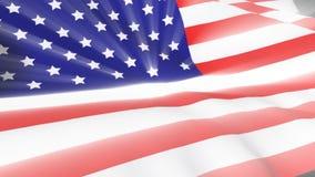 美国吹的标志风 皇族释放例证