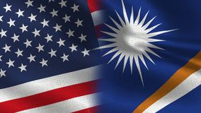 美国和一起马绍尔群岛现实半旗子 皇族释放例证