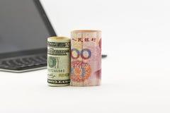 美国和中国在技术投资 库存照片