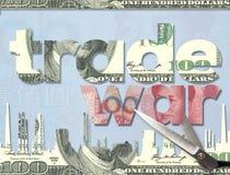 美国和中国在美元和元的交锋概念 免版税库存照片