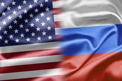 美国和俄国 库存照片