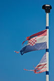 美国和克罗地亚旗子 库存图片