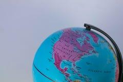 美国和加拿大在地球映射有白色背景 免版税图库摄影