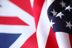 美国和英国旗子 免版税库存照片