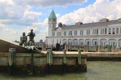 美国商船纪念品和码头1在曼哈顿 图库摄影