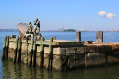 美国商船纪念在更低的曼哈顿 库存图片
