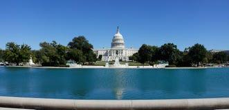 美国国会全景,华盛顿特区, 免版税库存图片
