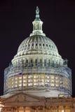 美国国会大厦北边圆顶建筑夜担任主角Washnington DC 库存图片
