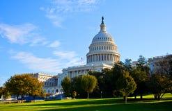 美国国会大厦南视图  免版税库存照片