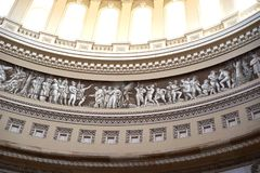 美国国会大厦圆顶带状装饰 库存图片