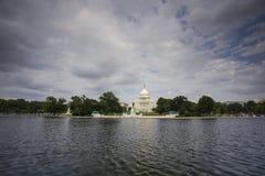 美国国会大厦在华府 免版税库存图片