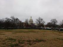 美国国会大厦大厦,第58个总统就职典礼,唐纳德・川普,妇女` s 3月,华盛顿特区,美国的就职典礼 免版税库存图片