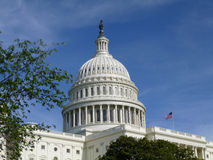 美国国会大厦的屋顶 库存照片