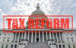 美国国会大厦税收改革 免版税库存照片