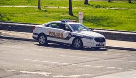 美国国会大厦警察车的华盛顿特区-哥伦比亚- 2017年4月7日 库存图片