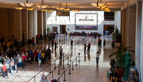 美国国会大厦访客中心 免版税库存照片