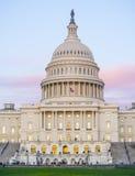 美国国会大厦-其中一个最著名的大厦在华盛顿-华盛顿特区-哥伦比亚- 2017年4月7城市日 免版税库存照片