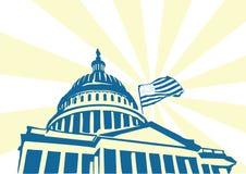 美国国会大厦 免版税图库摄影