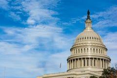 美国国会大厦Buiding华盛顿特区圆顶细节特写镜头单独Dayli 图库摄影