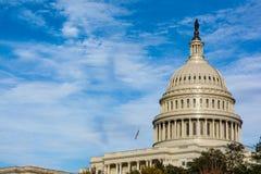 美国国会大厦Buiding华盛顿特区圆顶细节特写镜头单独Dayli 免版税库存照片