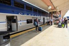 美国国家铁路公司火车 免版税库存图片