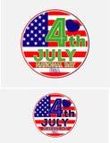 美国国庆节7月第4 皇族释放例证
