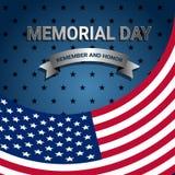 美国国旗为阵亡将士纪念日 免版税库存图片