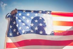 美国国旗人 库存图片