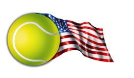 美国国旗例证网球 免版税库存照片