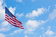 美国国旗半人员 免版税库存照片