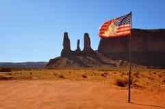 美国国旗印地安人 库存照片