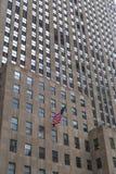 美国国旗在曼哈顿,纽约 免版税库存图片