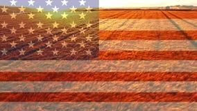 美国国旗录影 影视素材