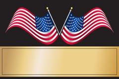 美国国旗我们 向量例证