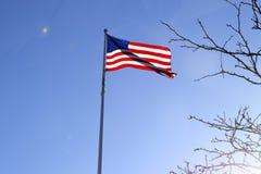 美国国旗担任主角数据条 免版税图库摄影