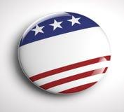 美国国旗按钮 免版税库存照片