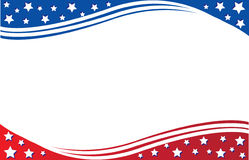 美国国旗明信片模板 免版税库存图片