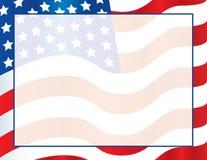 美国国旗模板海报或明信片背景美利坚合众国 免版税库存照片