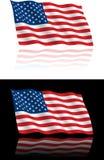 美国国旗流 免版税库存照片