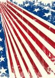 美国国旗海报 库存例证