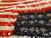 美国国旗绣与衣服饰物之小金属片 库存照片