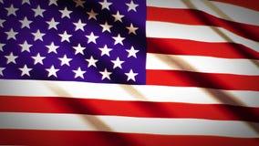 美国国旗缓慢挥动 库存例证